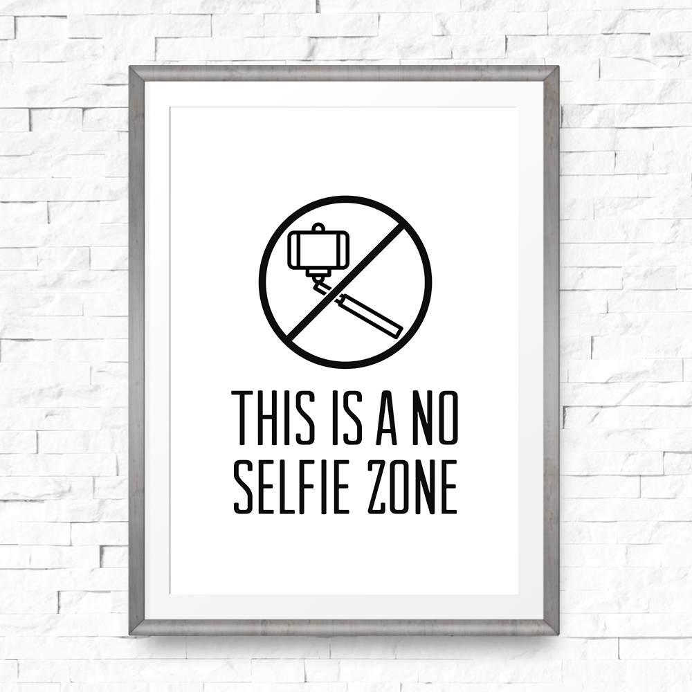 Bathroom Sign No Selfie Zone Funny Bathroom Sign Social