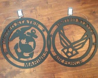 Military metal hanger