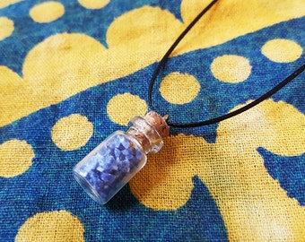 Sodalite | Fairy Gemstone Bottle Necklace | Crystals, Gems, Jewelry, Fairy Gifts, Rocks & Minerals, Natural, Stone