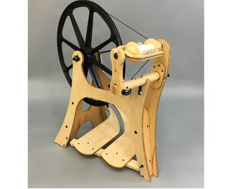 Flatiron Spinning wheel, Free Shipping on the New Schacht Spinning Wheel, Modern Spinning Wheel, Saxony Wheel, Left Hand Wheel