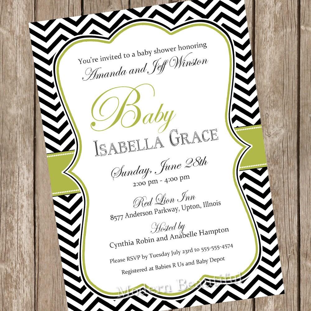 Elegant baby shower invitation neutral baby shower