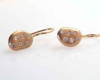 Rose Gold Diamond earrings.