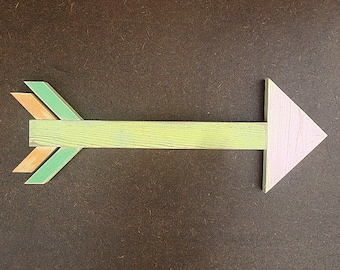 Pastel rustic wooden arrow