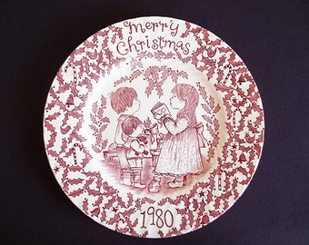 1980 Christmas Collector Plate Royal Crownford Norma Sherman