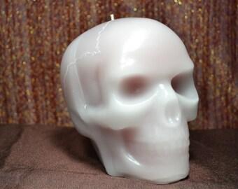 Large Plague Bleeding Skull Candle