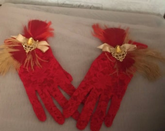 Lace gloves/Gatsby gloves/Formal gloves/Flapper gloves gloves/evening gloves/Bridal gloves/Gatsby accessories/flapper accessories