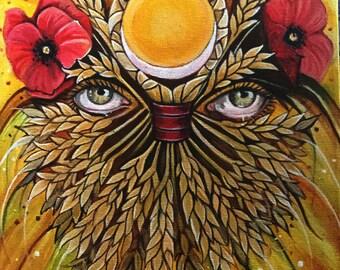 Corn Goddess Greeting Card