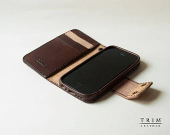 iPhone 6s, iPhone 6s Plus, iPhone 6, iPhone 6 Plus Leather Wallet with Magnetic Snaps Buttons [Handmade] [Custom Colors]