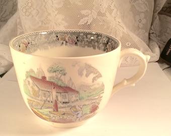 Antique vintage 1920's Adams England oversized cup.