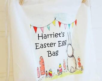 Easter egg hunt bag personalised