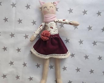Lilou design Beautiful handmade set of stuffed toys (kittens) with clothes