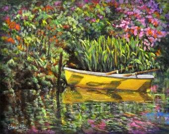 Boat in Garden Pond