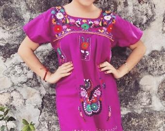 M-L Purple Embroidered Dress