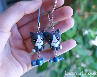 The Binding of Isaac Guppy Keychain and phone strap