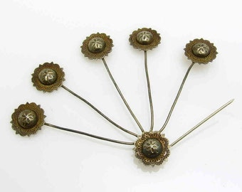 Antique Sterling Hat Pin Spray Art Deco Jewelry Accessories
