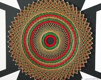 Optical Illusion String Art