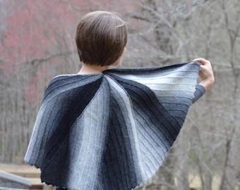 Roxbury Pond, shawl knitting pattern PDF