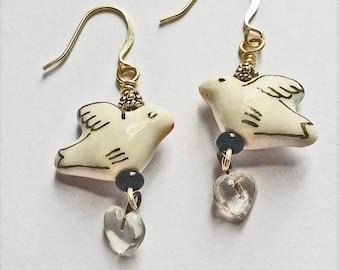 Flying Birdie Earrings