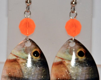 White Perch Lucky Lure Earrings