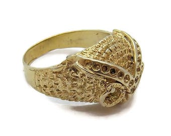 14k Solid Yellow Gold Owl (Buho) Ring!!