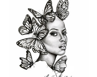Large Art Print - Transformed - The Beauty Collection