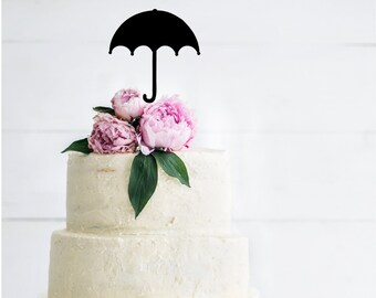 Umbrella Silhouette Shower Cake Topper | Baby Shower Cake Topper | Baby Girl | First Birthday