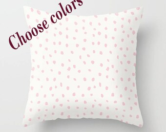 Custom Colors Dots Throw Pillow with insert, Indoor, Outdoor, Gift, Love, Valentines day, Basic, Modern, Style, Elegant, Girlfriend, Mom
