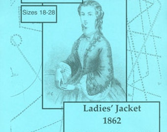 KFII:262.06A Ladies' Jacket, 1862, sizes 18-28