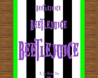 Beetlejuice Movie Poster, Beetlejuice Print, Beetlejuice Wall Art