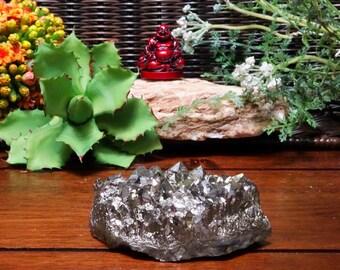 Platinum Amethyst Aura Crystal Quartz Point Cluster - ONE OF A KIND (RK68B1-04)