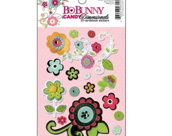 CLEARANCE! Bo Bunny Petal Pushers Dimensional Stickers