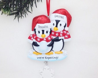 Expecting Parents Personalized Christmas Ornament / We're Expecting Ornament / Expecting / New Baby / Pregnant / New Parents