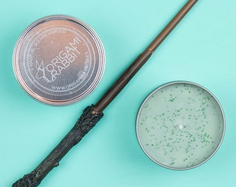 Harry Potter Inspired Regular Cotton Wick Soy Wax Candle // Forbidden Forest