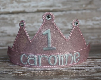 Birthday Crown Tiara ~ Personalized Photo Prop