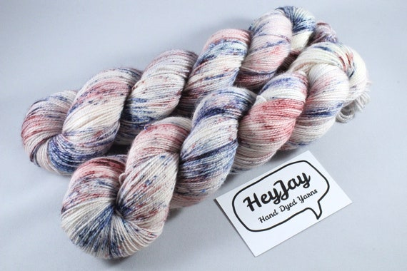Hand Dyed Ultimate Sock Yarn, BFL High Twist - Spock