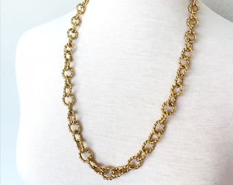 Big Gold chain necklace