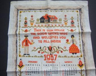 1967 Calendar Towel