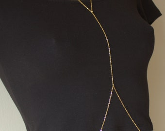 Satellite Gold Body Chain, Body Jewelry, Beach