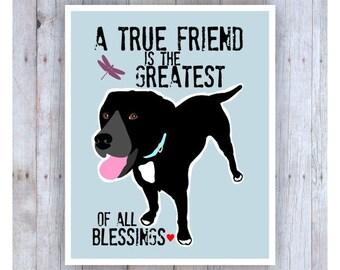 Labrador Retriever Art, Lab Art, Lab Print, Lab Poster, Labrador Retriever Gifts,Inspirational Quote, Inspirational Art, Dog Decor