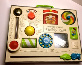 Fisher Price Activity Center, Fisher Price Activity Center, 1970's Crib Toy - FISHER PRICE 134