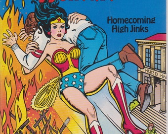 Vintage Wonder Woman coloring and activity book - Homecoming High Jinks