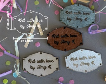 Knitting Tags - Hem Tags - Crochet Tags - Sewing Tags - Leather tags - Garment Tags - Product Tags - Knitting Labels - Pack of 10 - Frames