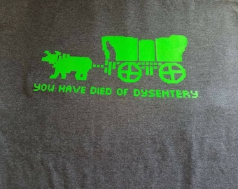 Oregon Trail game t-shirt