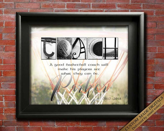 Basketball Coach Gift - Personalized