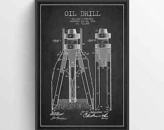 1902 Öl bohren Patent Wand Kunst Poster, Öl bohren Poster, Texas Kunst, Inneneinrichtungen, Geschenkidee, PFEN06P