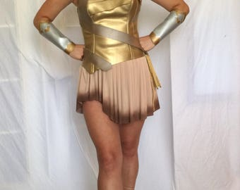 New  Wonder Woman Costume  Warrior  Custom Made Sizes XS-L