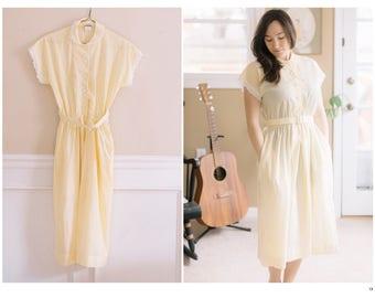 Vintage Yellow Sun Dress | Small