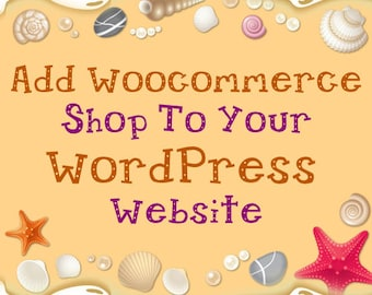 Add E-commerce Shop to WordPress theme - Shopping cart - Payment integration - Shipping - Online Shop - Ecommerce Store - PayPal Integration