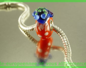European glass bead frog No. 1 for bracelet necklace charms