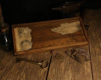 Curiosity Cabinet Curiosity Box Treasure Chest Compartment Box Curiosities and Oddities Vintage Wooden Box  Specimen Box Witchcraft Antique